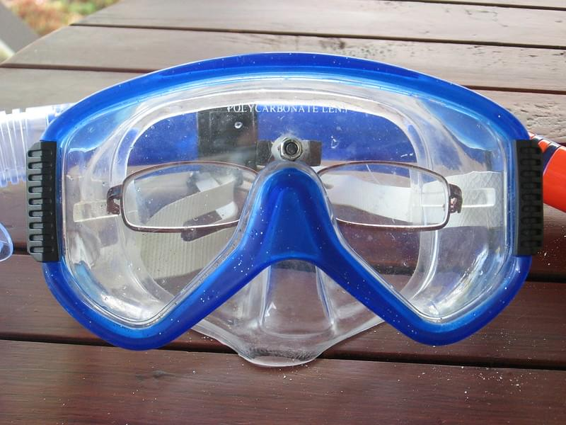 DIY snorkel mask with glasses