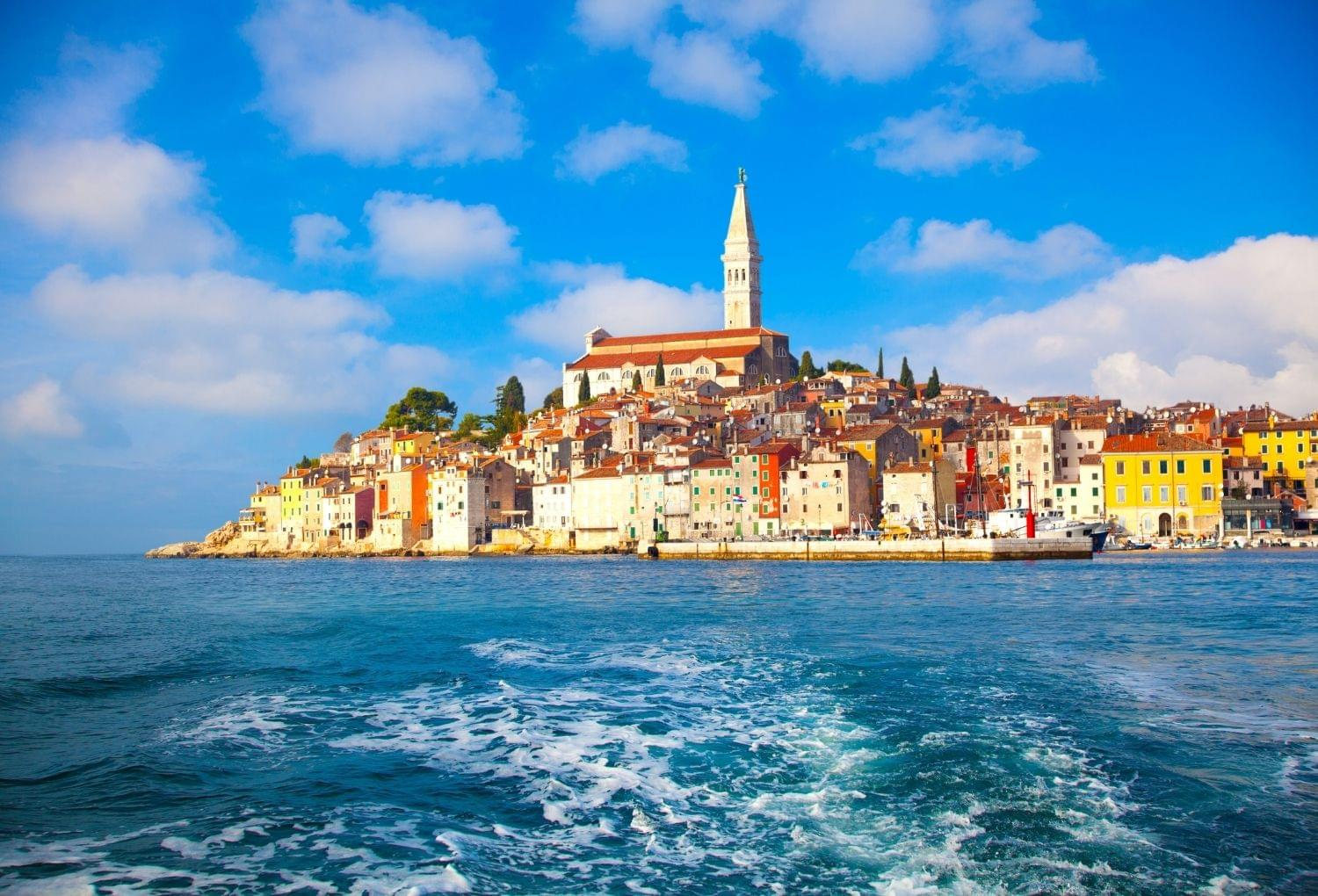 Porec town Istria from the water